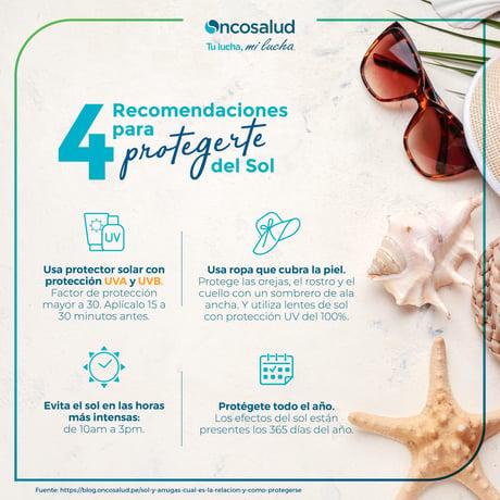 4 recomendaciones para protegerte del sol
