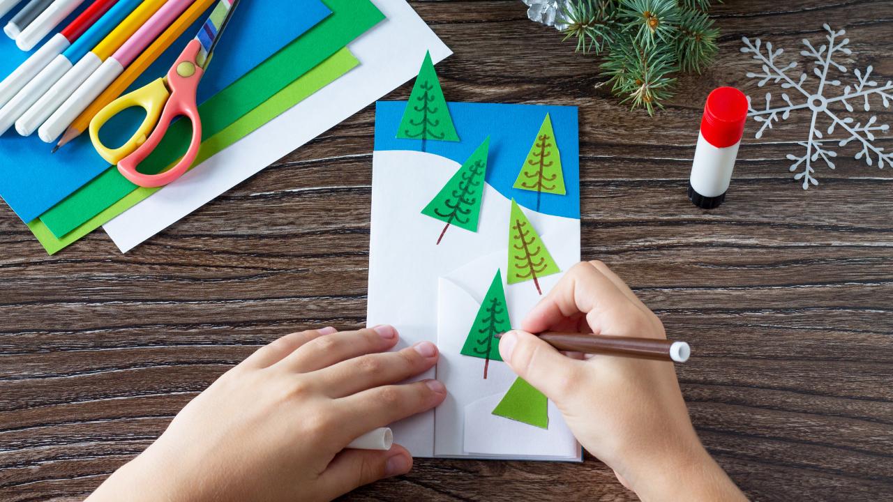 manualidades de tarjetas navideñas