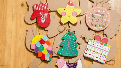 3 manualidades anti-estrés para compartir con tus hijos esta Navidad