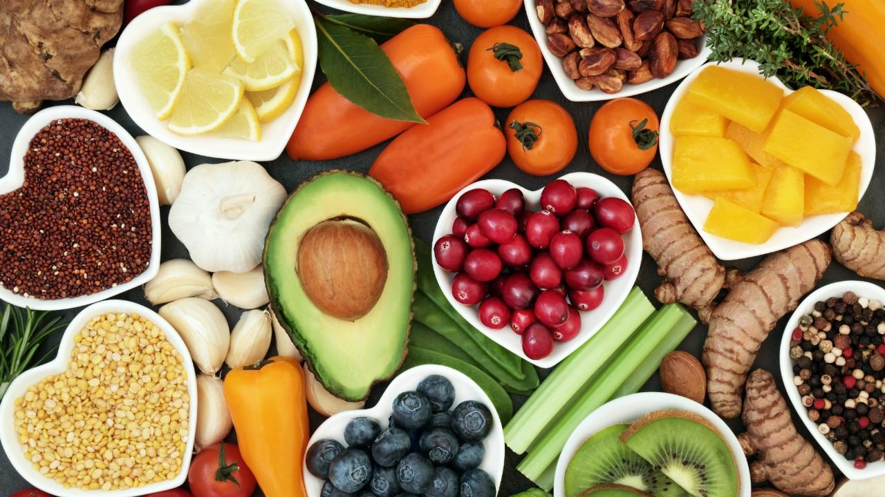 propiedades de los alimentos por color