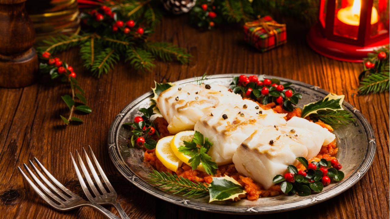 cena navideña con poscado