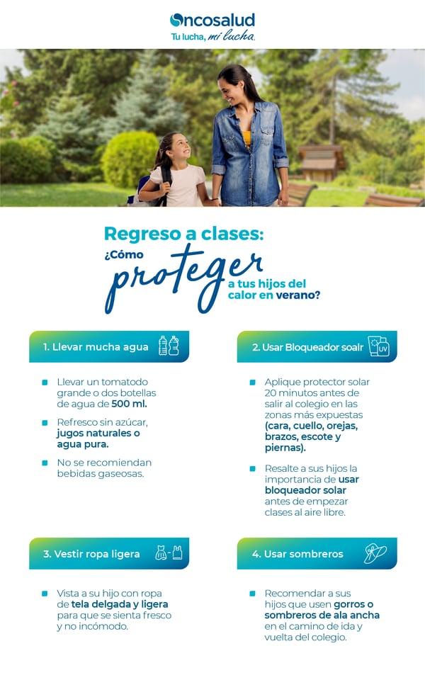 infografia proteger hijos clases verano