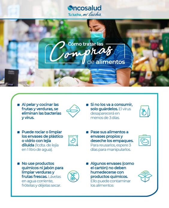 infografia como desinfectar alimentos