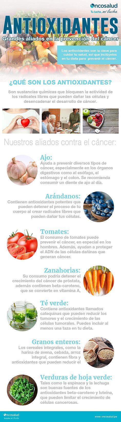 antioxidantes y el cancer