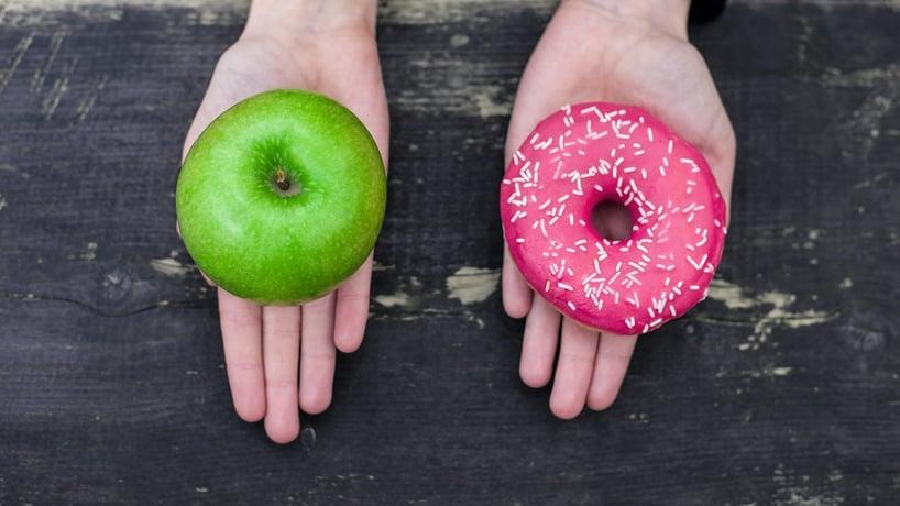 manzana o donut