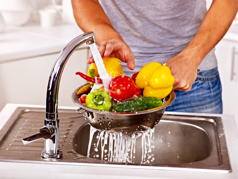 lavado de verduras
