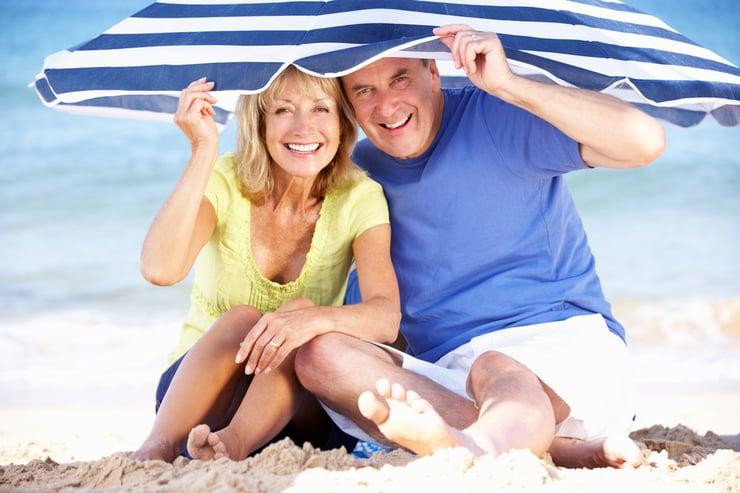 playa y los rayos UV