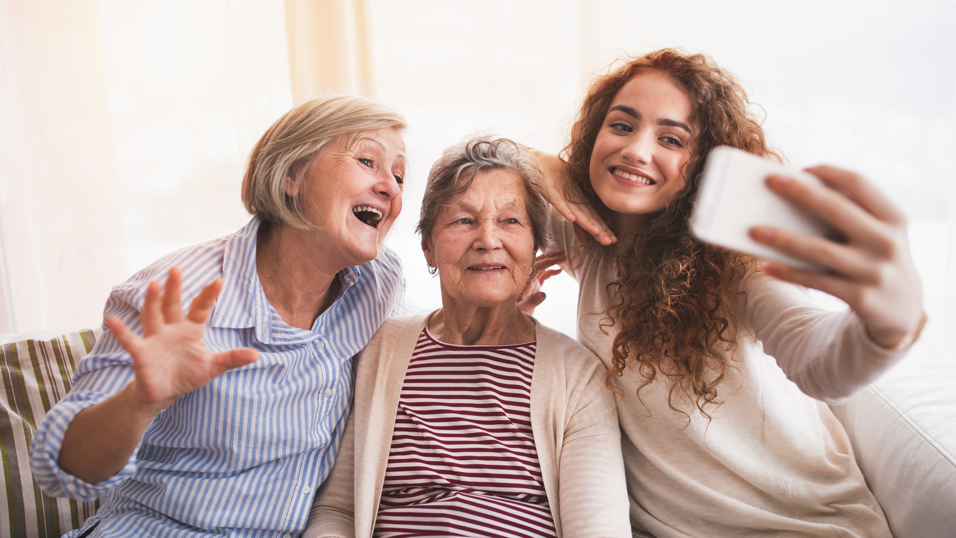 adolescente con abuelas