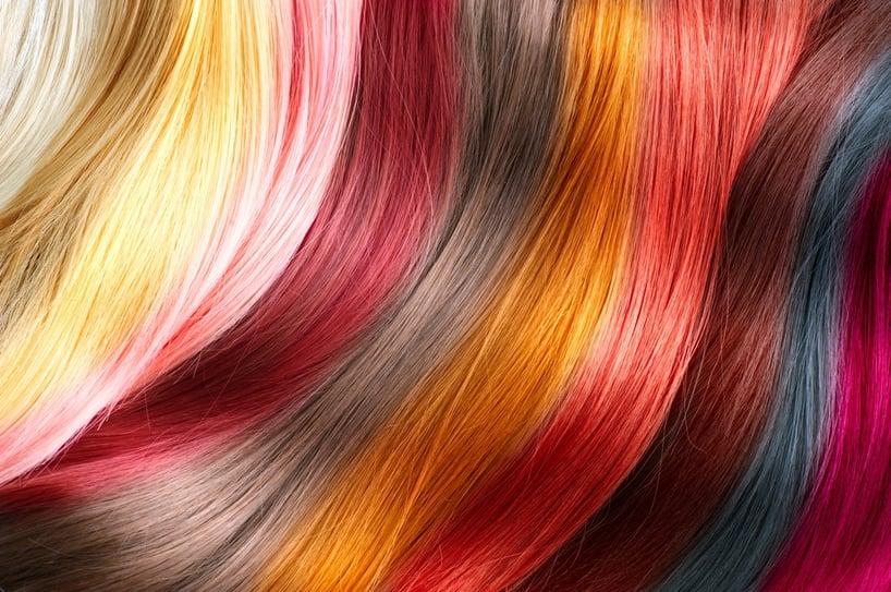 cabello de diferentes colores