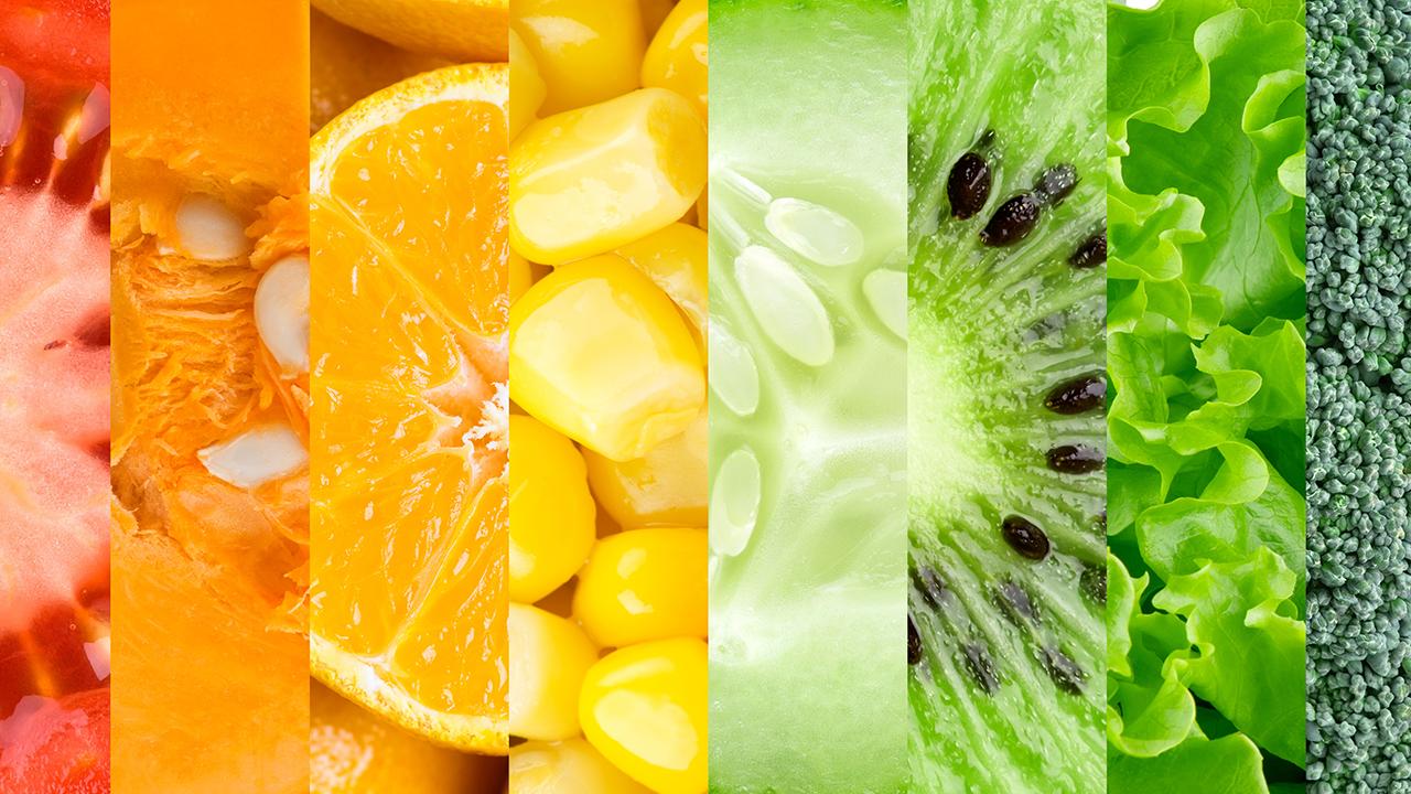 Cuáles son las propiedades de los alimentos según su color