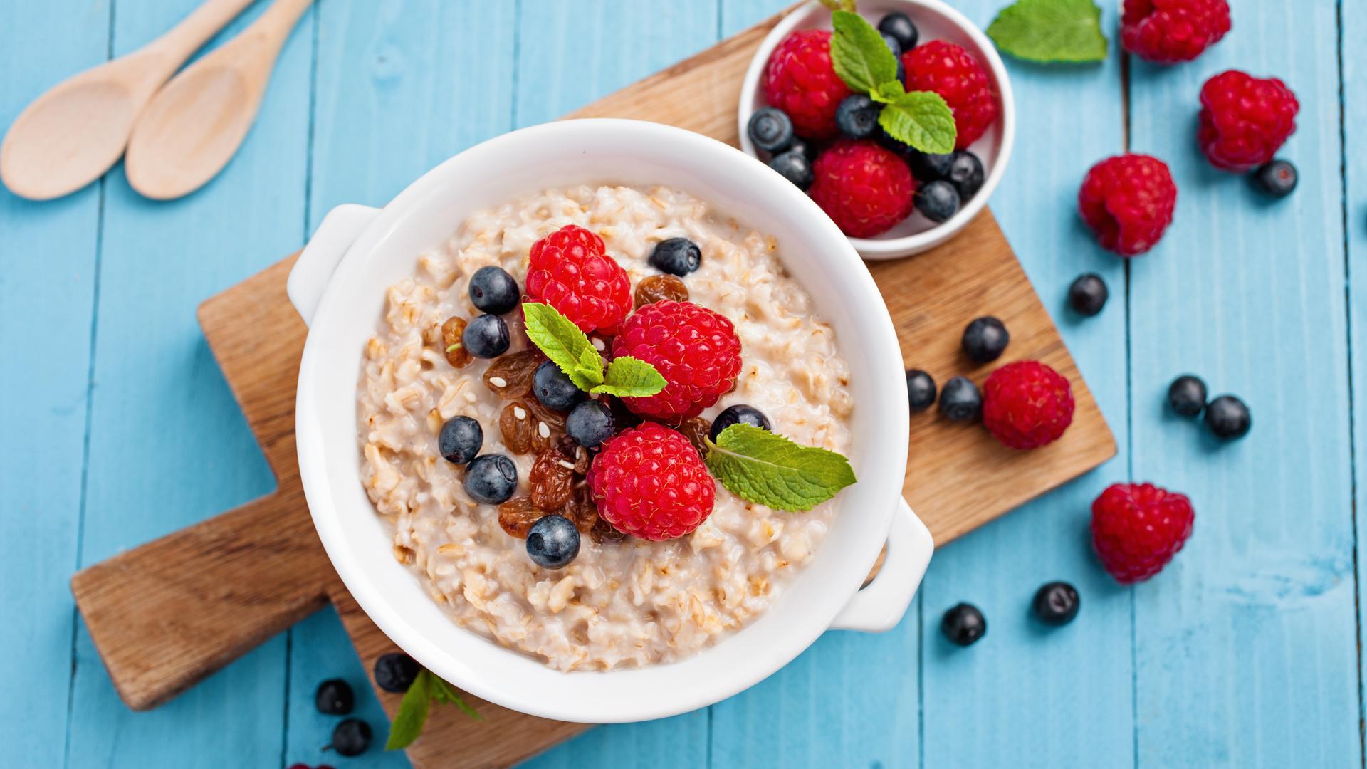 Desayuno saludable, escolares concentrados